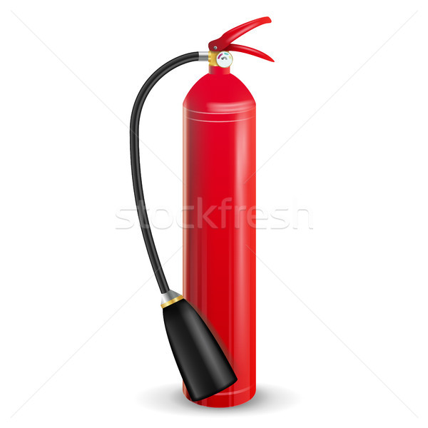 Fire Extinguisher Vector. 3D Realistic Red Fire Extinguisher Sign Isolated Illustration Stock photo © pikepicture