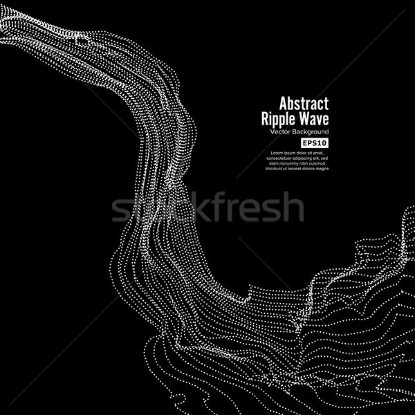 Wave Background. Ripple Grid. Array Of Dynamic Emitted Particles. Vector Illustration Stock photo © pikepicture