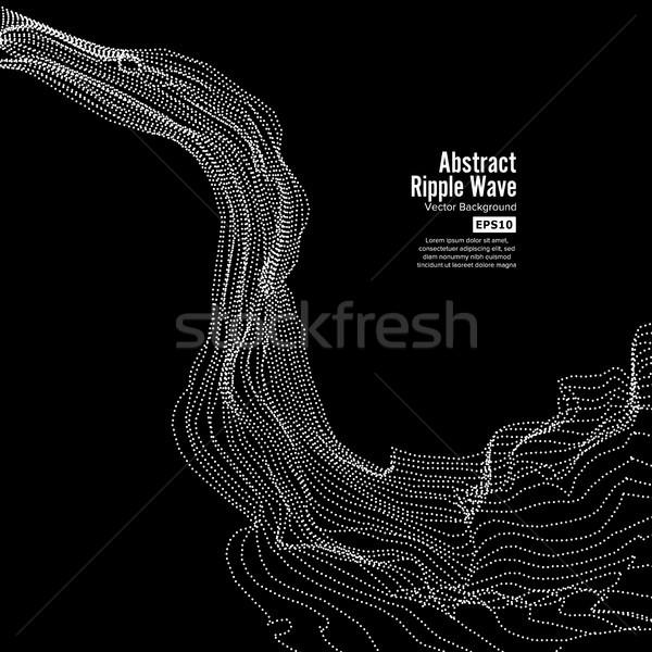 波 リップル グリッド ダイナミック 粒子 ストックフォト © pikepicture
