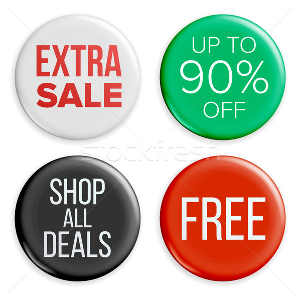 Sale Buttons Vector. Sale Bag Tag Icons. Shopping Labels. Product Promotion Isolated Illustration Stock photo © pikepicture