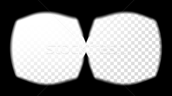 Virtual Reality Glasses Sight View Vector. Stereoscopic Screen Frame Template. Technology Design 3D  Stock photo © pikepicture