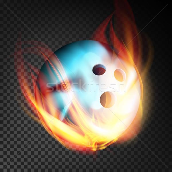 Palla da bowling vettore realistico brucia stile isolato Foto d'archivio © pikepicture