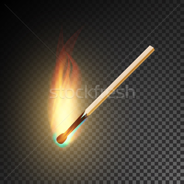 Realistic Burning Match Vector Stock photo © pikepicture