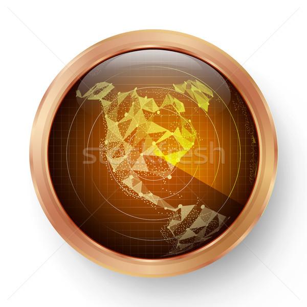 Radar icono vector realista Screen Foto stock © pikepicture
