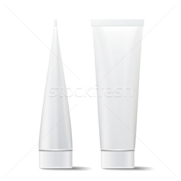 Buis vector omhoog cosmetische witte plastic Stockfoto © pikepicture
