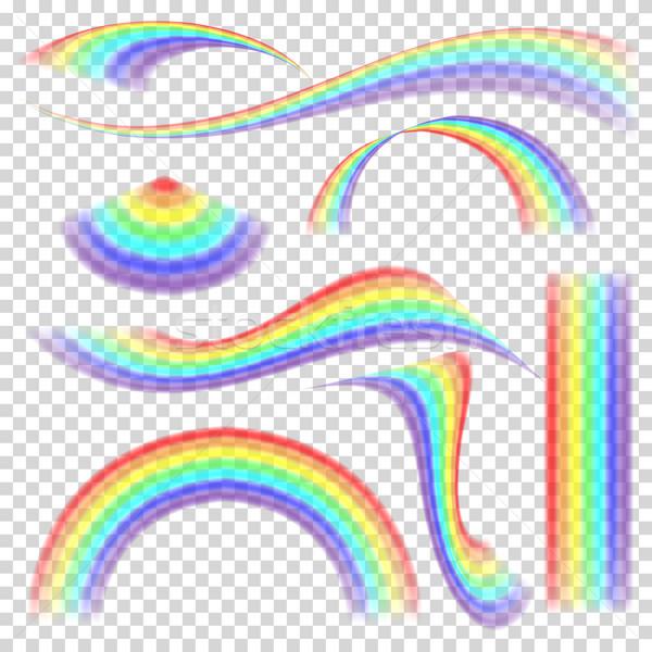 радуга набор вектора различный форма коллекция Сток-фото © pikepicture