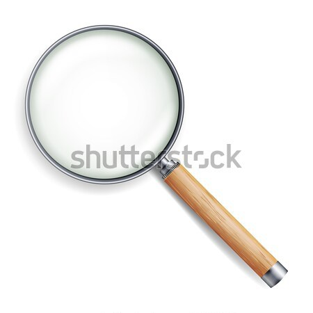 Realistic Magnifying Glass Vector Stock photo © pikepicture