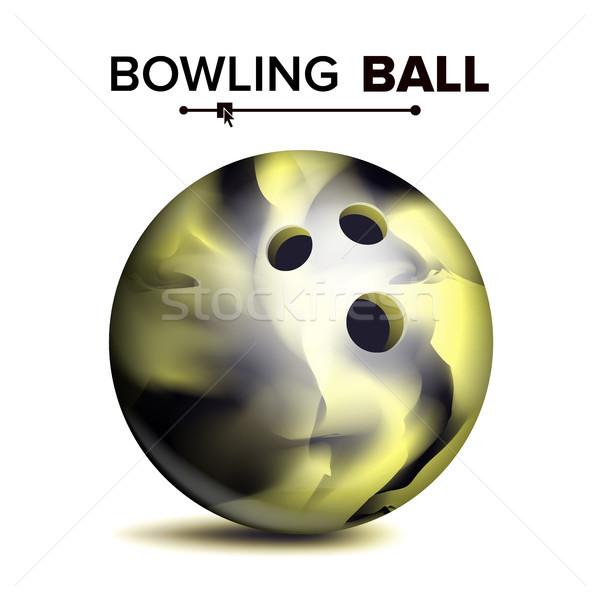 Realistisch Bowlingkugel Vektor Ball Sport Stock foto © pikepicture