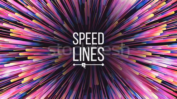 Velocidad líneas vector efecto Foto stock © pikepicture