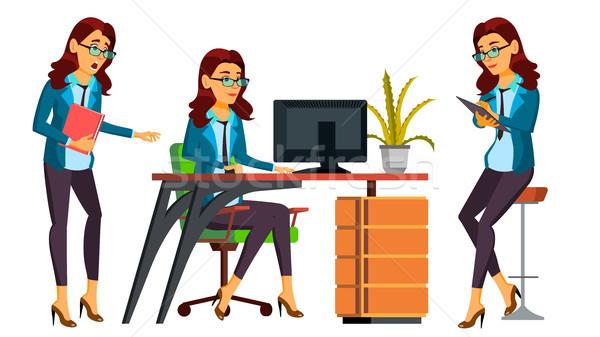 Trabalhador de escritório vetor mulher profissional oficial secretário Foto stock © pikepicture