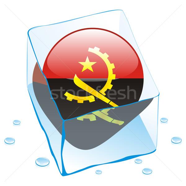 Ангола кнопки флаг заморожены Ice Cube Сток-фото © PilgrimArtworks