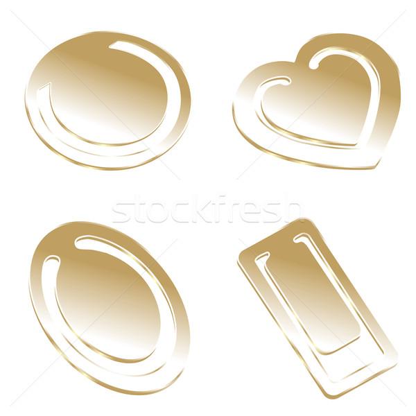 Stockfoto: Geïsoleerd · gouden · papier