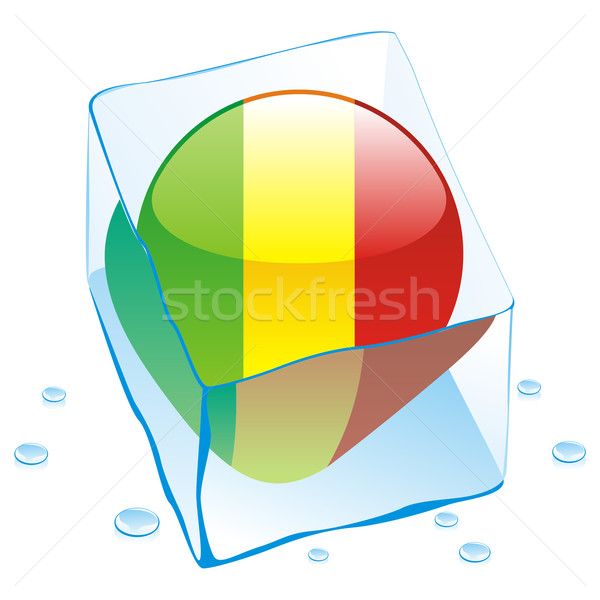 Mali botão bandeira congelada ice cube Foto stock © PilgrimArtworks