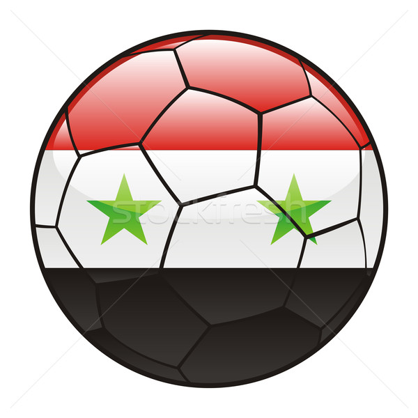 Syrië vlag voetbal voetbal sport voetbal Stockfoto © PilgrimArtworks