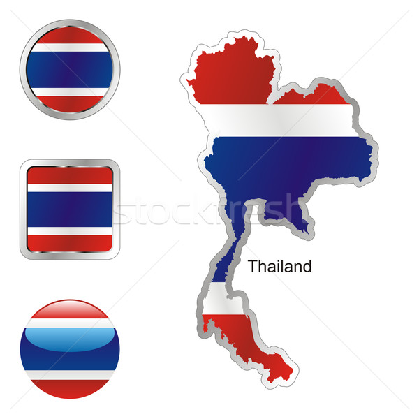 thailand in map and internet buttons shape Stock photo © PilgrimArtworks