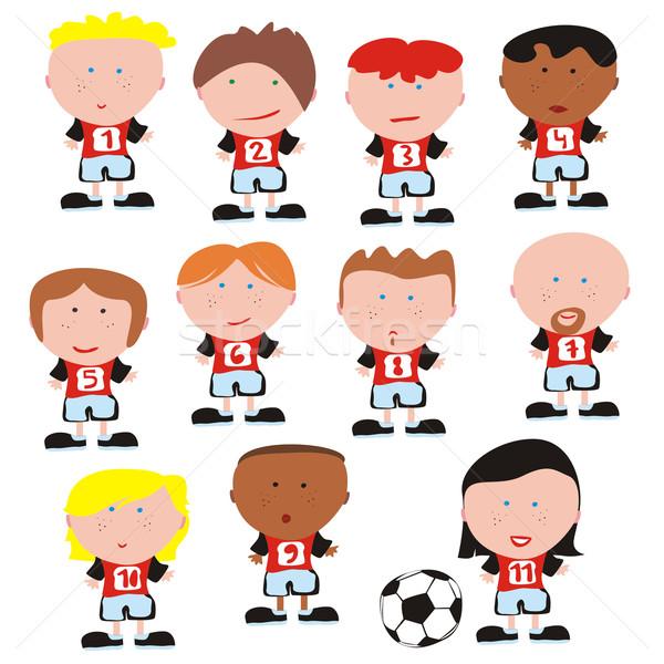 サッカー チーム ベクトル スポーツ グループ ストックフォト © PilgrimArtworks