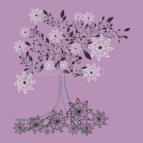 定型化された ツリー 花 細部 準備 ストックフォト © PilgrimArtworks