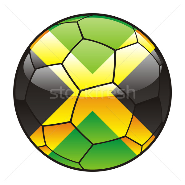 Jamaica flag on soccer ball Stock photo © PilgrimArtworks