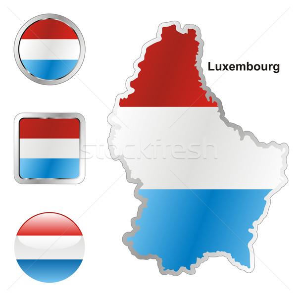 Люксембург карта веб Кнопки Сток-фото © PilgrimArtworks