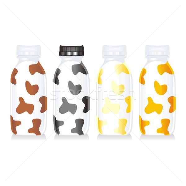 Geïsoleerd grappig melk glas flessen Stockfoto © PilgrimArtworks