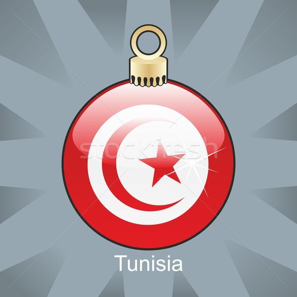 孤立した チュニジア フラグ クリスマス 電球 ストックフォト © PilgrimArtworks