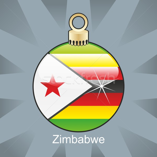 isolated zimbabwe flag in christmas bulb shape Stock photo © PilgrimArtworks