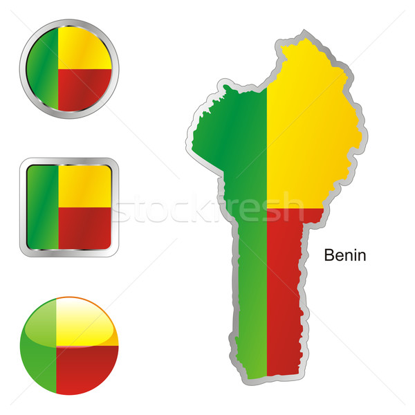 benin in map and internet buttons shape Stock photo © PilgrimArtworks