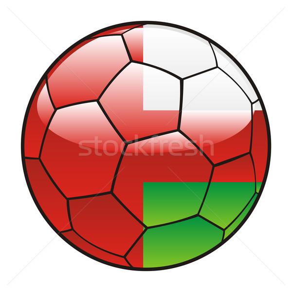 Umman bayrak futbol topu spor futbol Stok fotoğraf © PilgrimArtworks