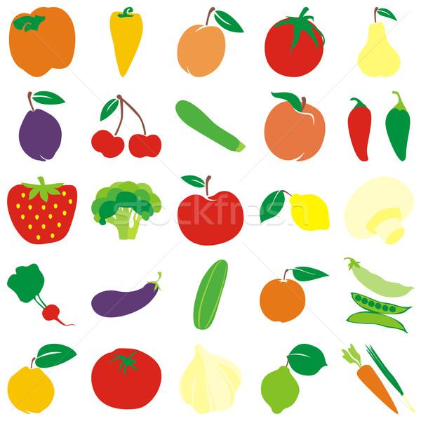 Vruchten groenten details klaar vector Stockfoto © PilgrimArtworks