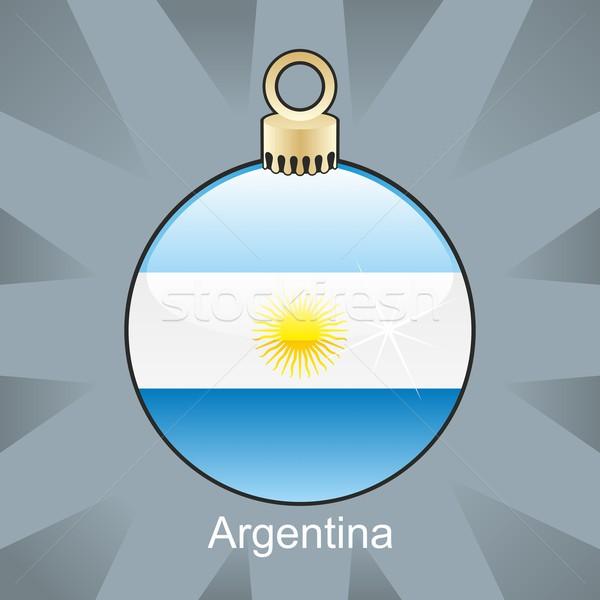 Argentina bandeira natal bulbo forma Foto stock © PilgrimArtworks