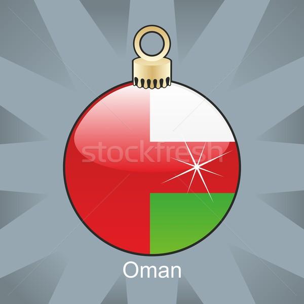 Izolált Omán zászló karácsony villanykörte forma Stock fotó © PilgrimArtworks