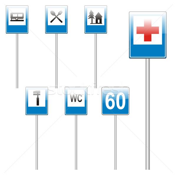 Isolado europeu sinais de trânsito atravessar caminhão Foto stock © PilgrimArtworks