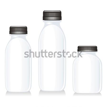 isolated milk glass bottles Stock photo © PilgrimArtworks
