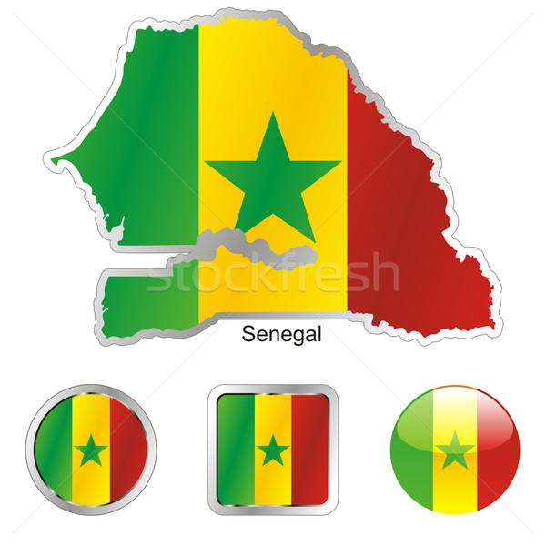 Senegal Pokaż internetowych przyciski Zdjęcia stock © PilgrimArtworks