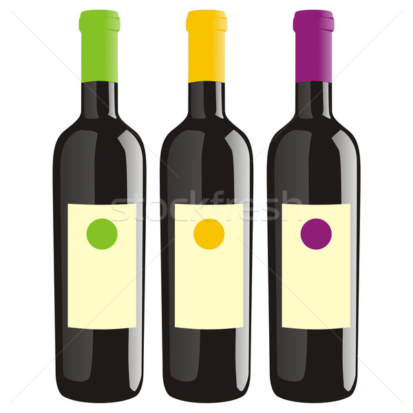 classic shape wine bottles Stock photo © PilgrimArtworks