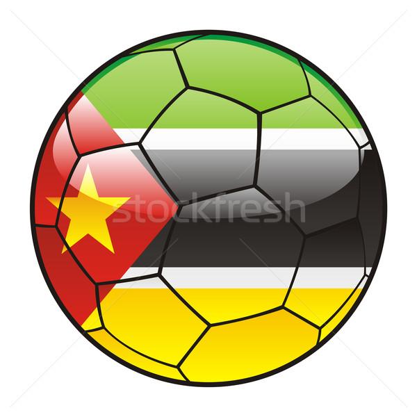 Mozambik banderą piłka piłka nożna sportu piłka nożna Zdjęcia stock © PilgrimArtworks
