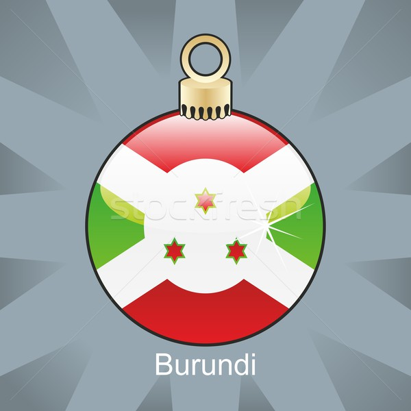 Burundi bandeira natal bulbo forma Foto stock © PilgrimArtworks