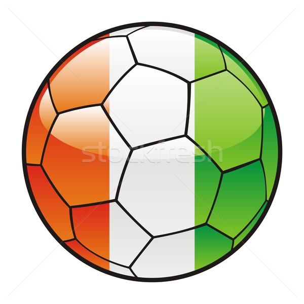 Ivoorkust vlag voetbal voetbal sport voetbal Stockfoto © PilgrimArtworks