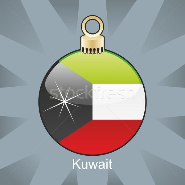 Geïsoleerd Koeweit vlag christmas lamp vorm Stockfoto © PilgrimArtworks