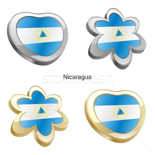 Nicaragua vlag hart bloem vorm Stockfoto © PilgrimArtworks