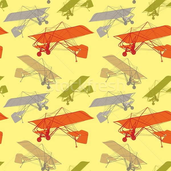seamless pattern with isolated gliders Stock photo © PilgrimArtworks