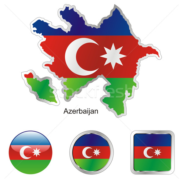 azerbaijan in map and internet buttons shape Stock photo © PilgrimArtworks
