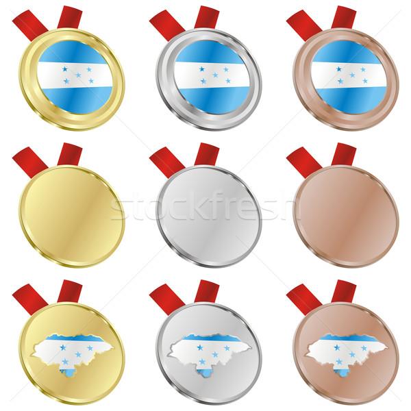 Honduras vetor bandeira medalha formas Foto stock © PilgrimArtworks