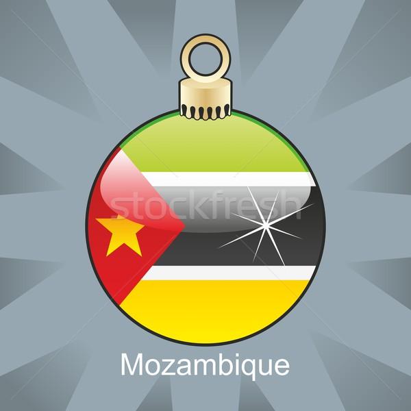 Isolado Moçambique bandeira natal bulbo forma Foto stock © PilgrimArtworks