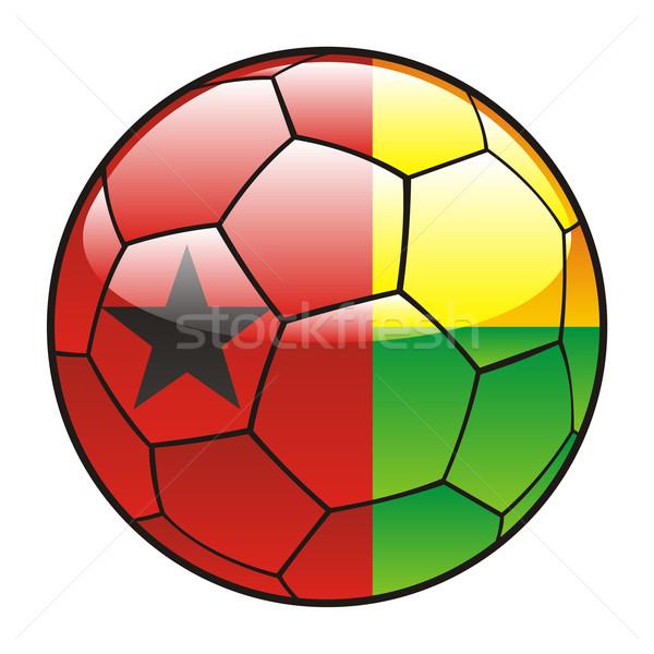 Guinea Bissau flag on soccer ball Stock photo © PilgrimArtworks