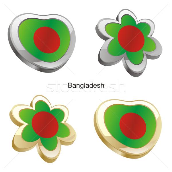 Bangladesh bandeira coração flor forma Foto stock © PilgrimArtworks