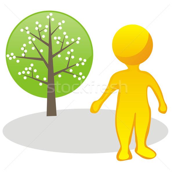 Gestileerde man boom natuur Stockfoto © PilgrimArtworks