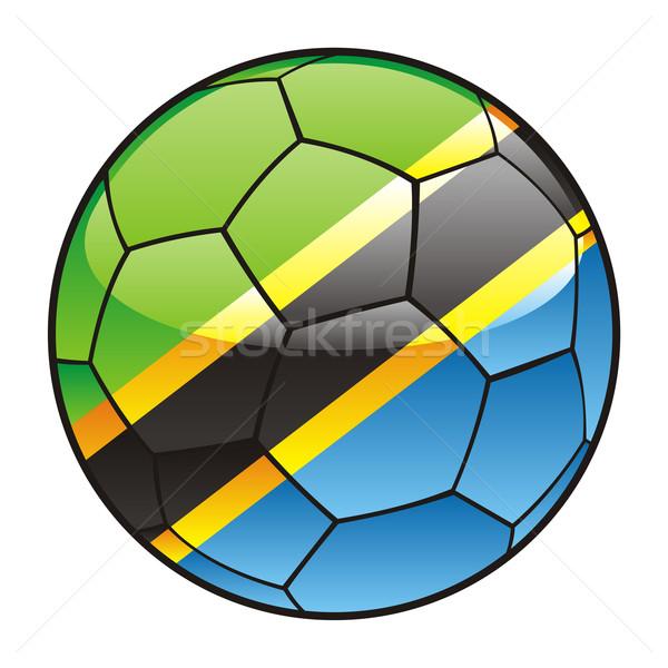 Танзания флаг футбольным мячом Футбол спорт футбола Сток-фото © PilgrimArtworks