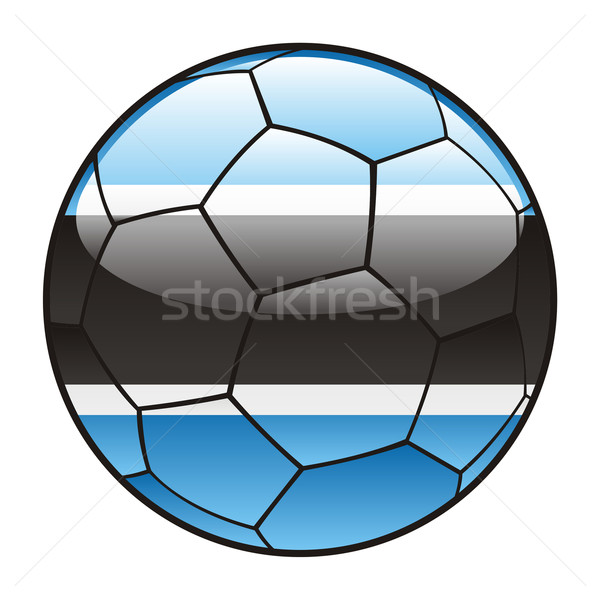 Botswana pavillon ballon football sport football Photo stock © PilgrimArtworks