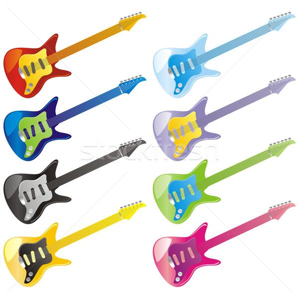 Vector guitarra iconos aislado música Foto stock © PilgrimArtworks